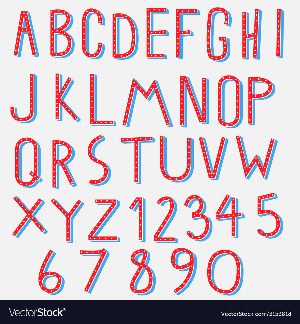 Red blue alphabet vector | Price: 1 Credit (USD $1)