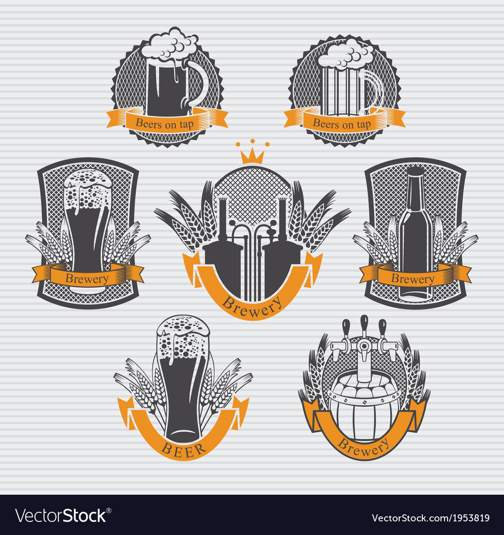 Beer label set vector | Price: 1 Credit (USD $1)