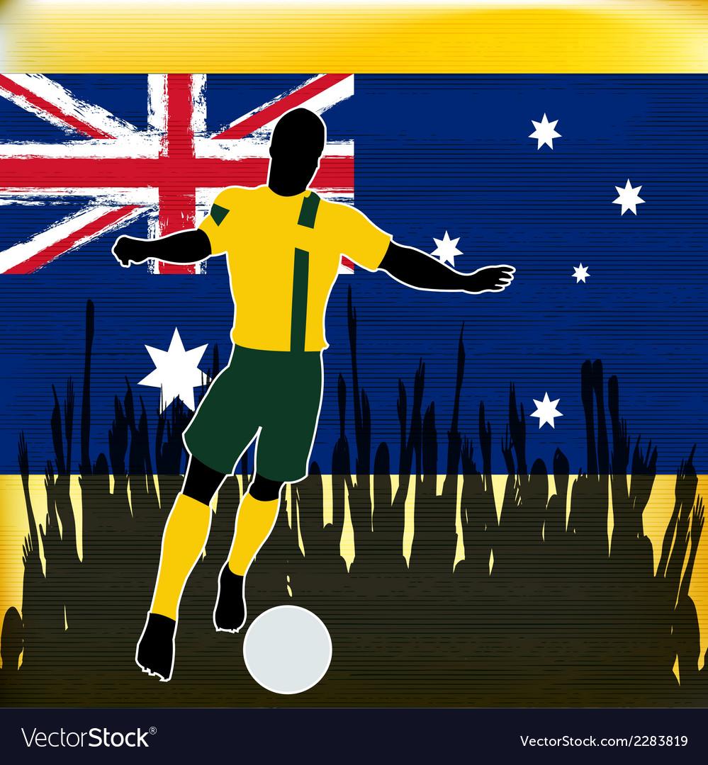 Footbal australia vector | Price: 1 Credit (USD $1)