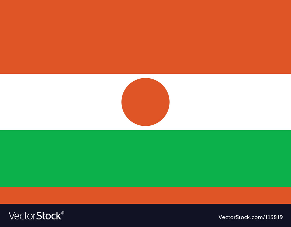 Niger flag vector | Price: 1 Credit (USD $1)