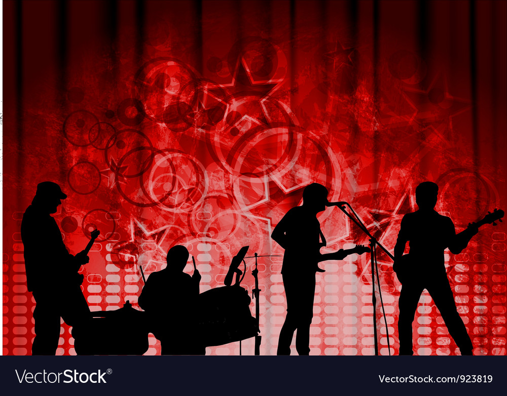 Red musical design vector | Price: 1 Credit (USD $1)