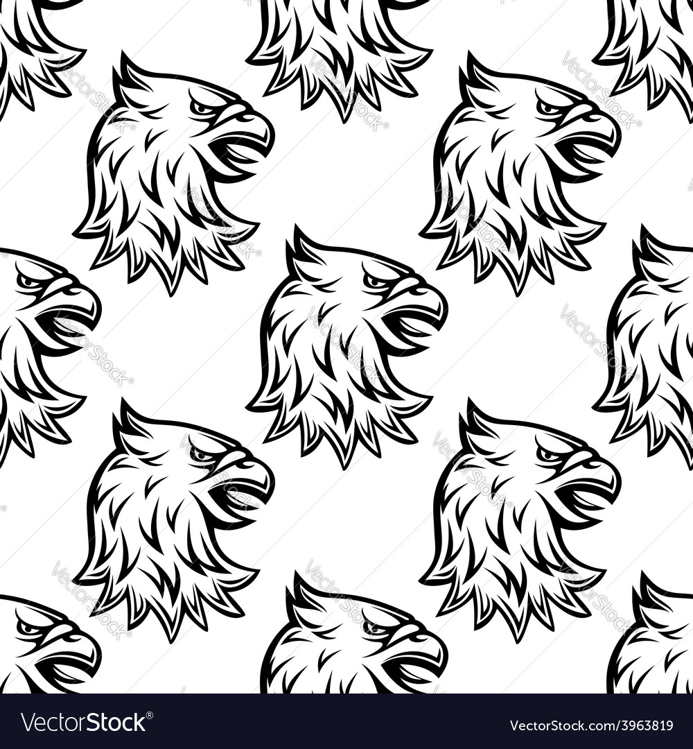 Seamless pattern with head of heraldic eagle vector | Price: 1 Credit (USD $1)