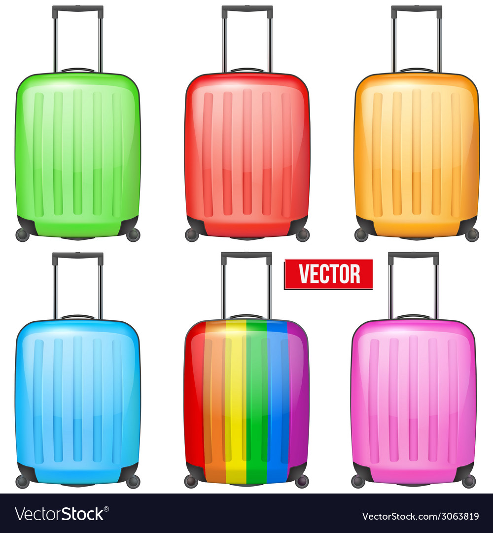 Set of classic plastic luggage suitcase for air or vector | Price: 1 Credit (USD $1)