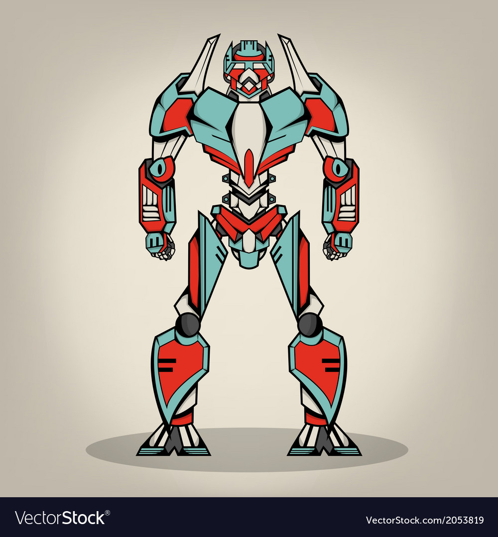 Super war robot vector | Price: 1 Credit (USD $1)