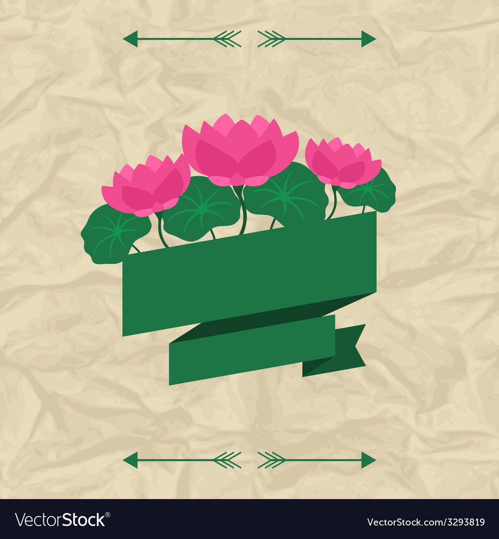 Tropical background with stylized lotus flowers vector | Price: 1 Credit (USD $1)