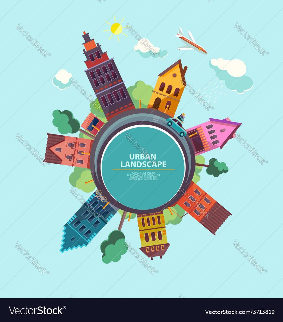 Urban cityscape vector   Price: 1 Credit (USD $1)