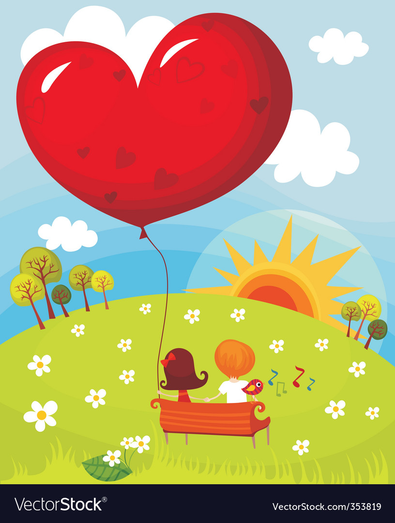 Valentine card vector | Price: 3 Credit (USD $3)