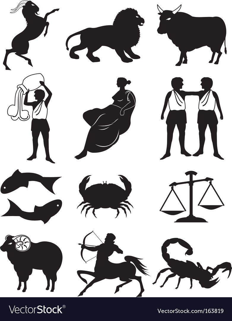 Zodiac silhouette vector | Price: 1 Credit (USD $1)
