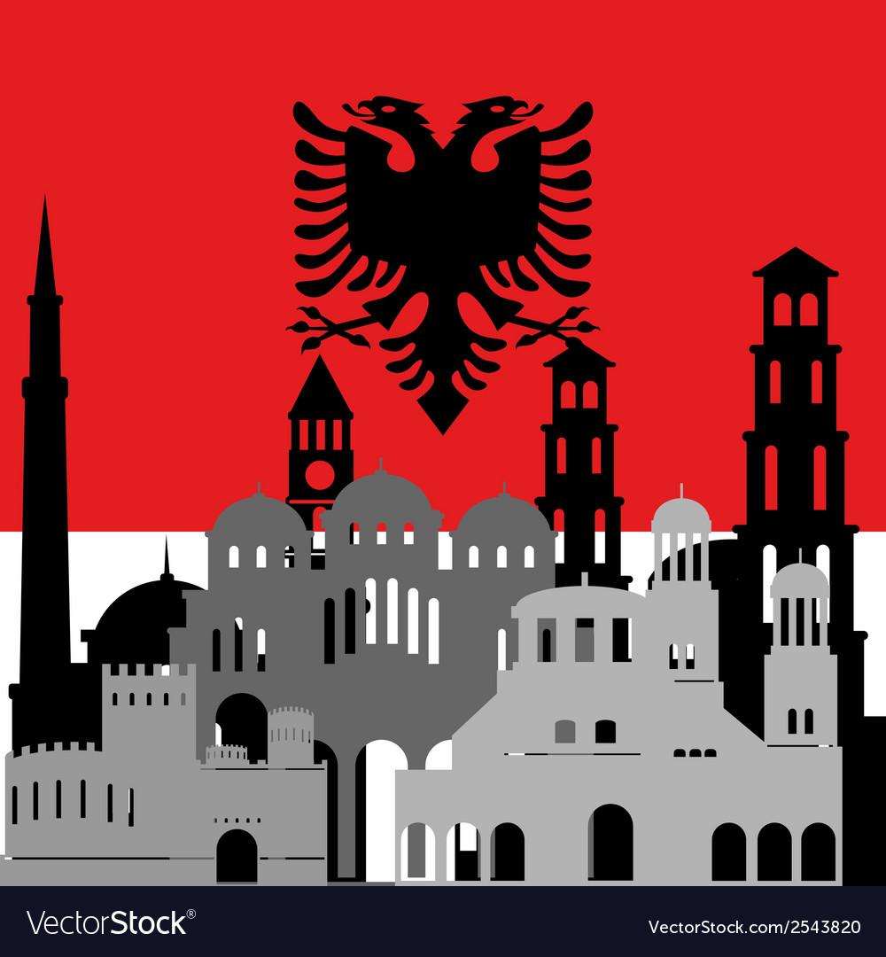 Albania vector | Price: 1 Credit (USD $1)