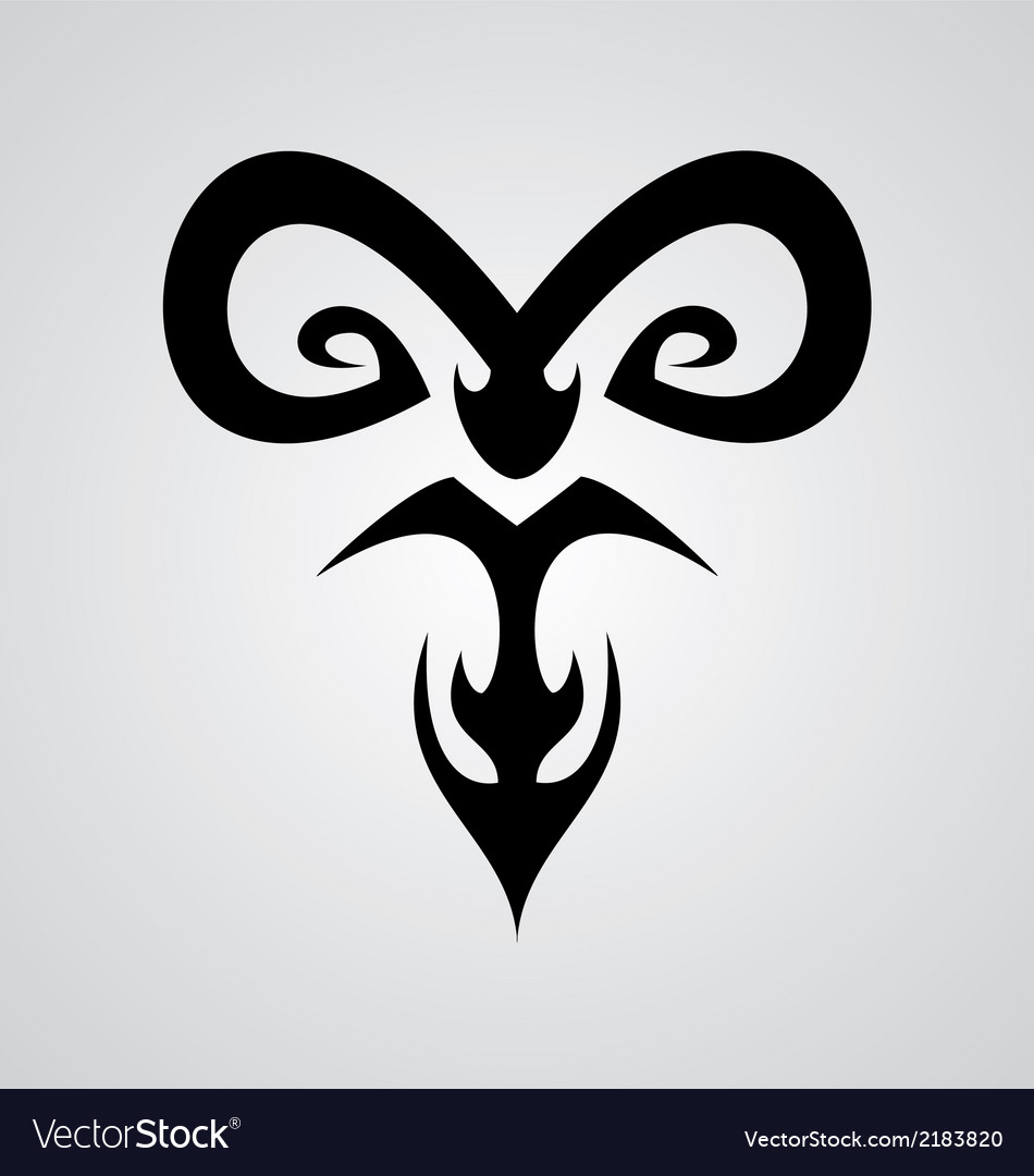 Aries symbol vector | Price: 1 Credit (USD $1)
