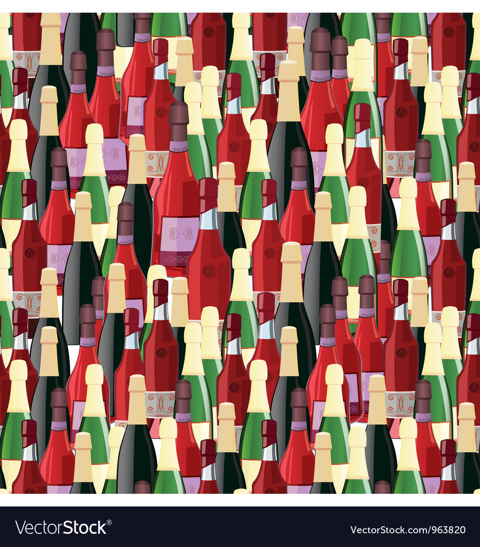 Bottles seamless pattern vector | Price: 1 Credit (USD $1)