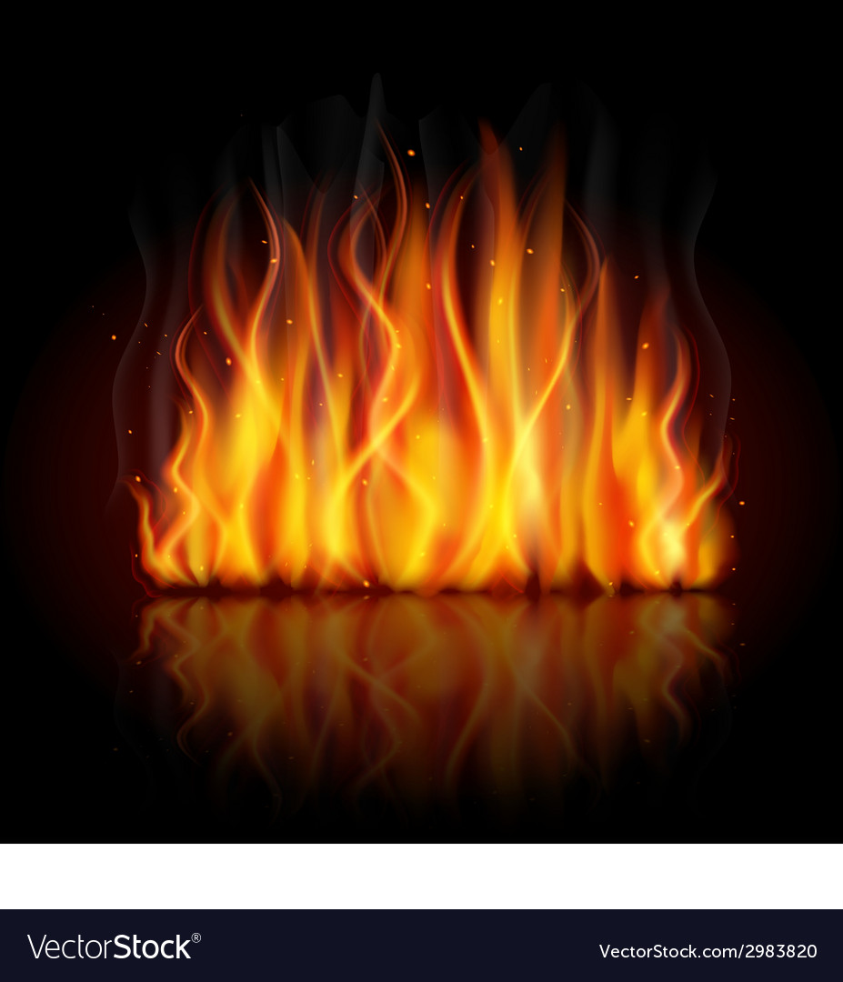 Burning flame background vector | Price: 1 Credit (USD $1)