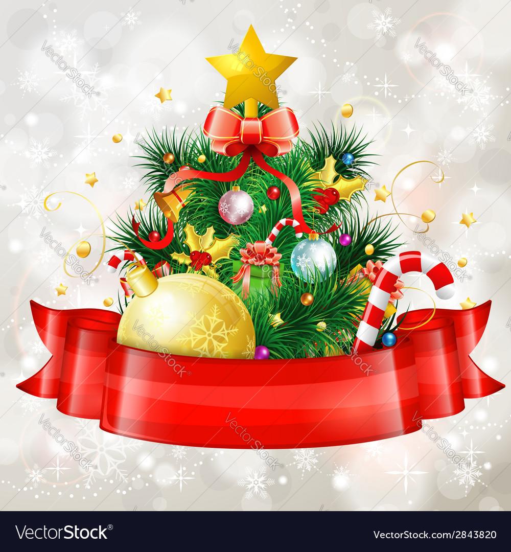 Christmas tree vector | Price: 3 Credit (USD $3)
