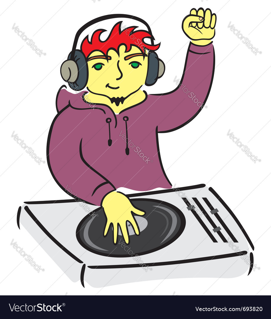 Dj behind console vector | Price: 3 Credit (USD $3)
