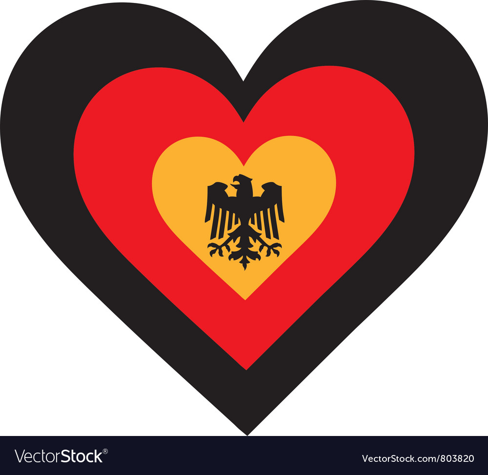Germany heart vector | Price: 1 Credit (USD $1)