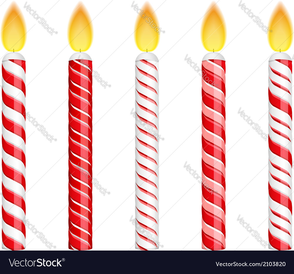 Red birthday candles vector | Price: 1 Credit (USD $1)