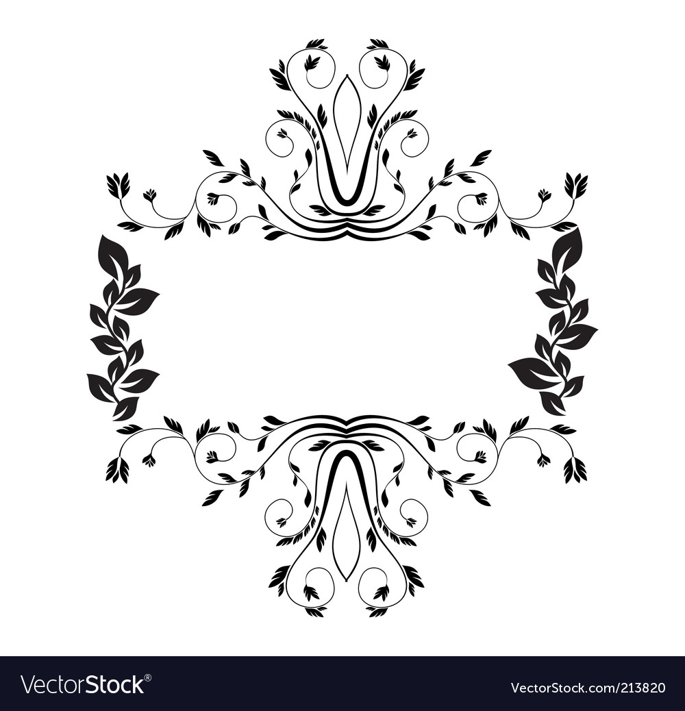 Royal floral frame illustration vector | Price: 1 Credit (USD $1)