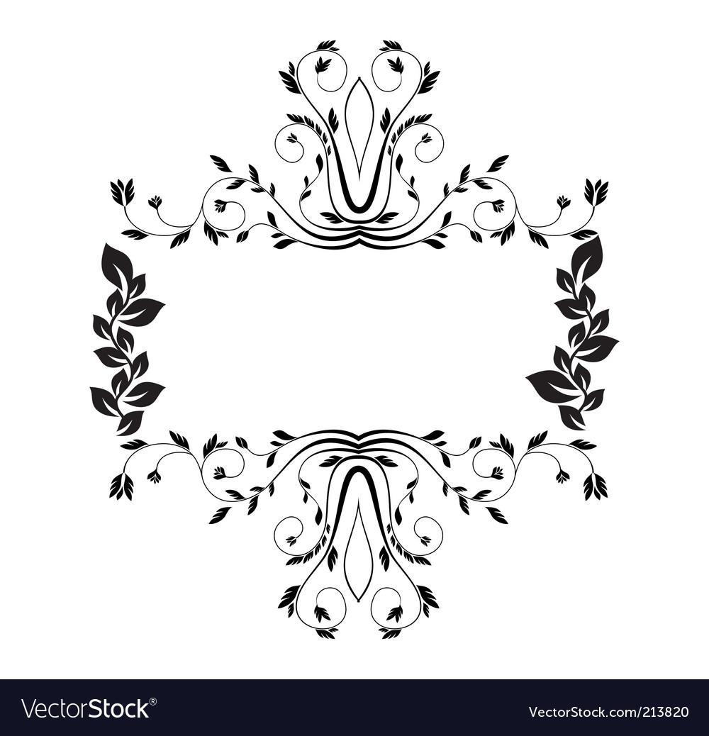 Royal floral frame illustration vector | Price: 1 Credit (USD $1)