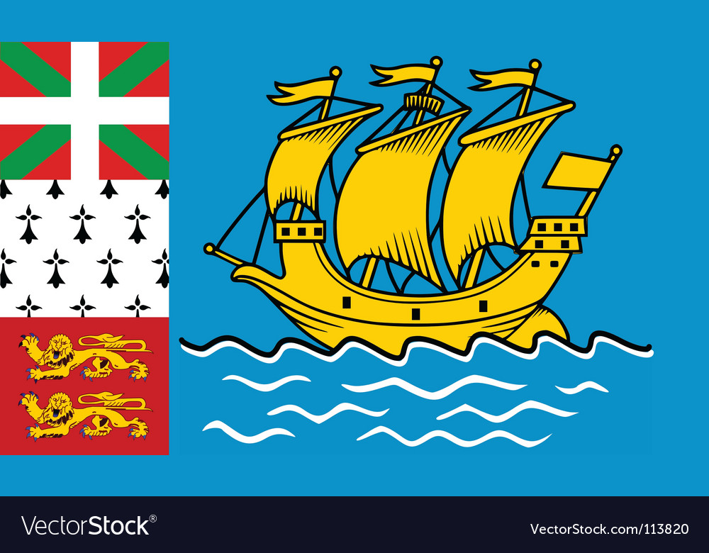 Saint pierre and miquelon flag vector | Price: 1 Credit (USD $1)