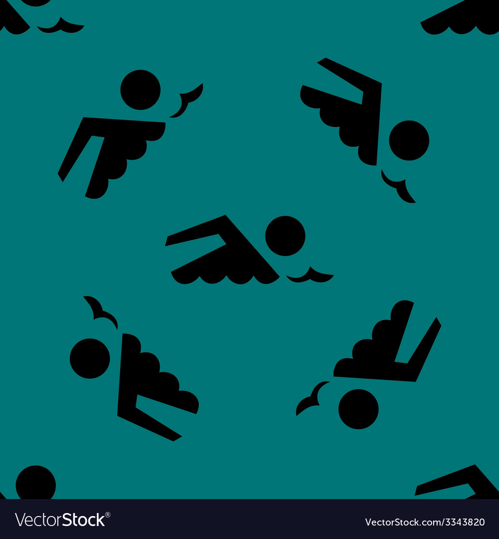 Swimmer pool web icon flat design seamless gray vector | Price: 1 Credit (USD $1)