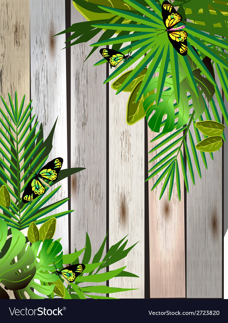 Tropical flowers and leaves and beautiful vector | Price: 1 Credit (USD $1)