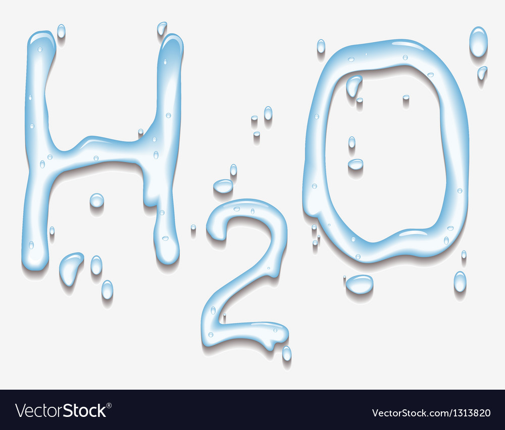 Water with h2o shape vector | Price: 1 Credit (USD $1)