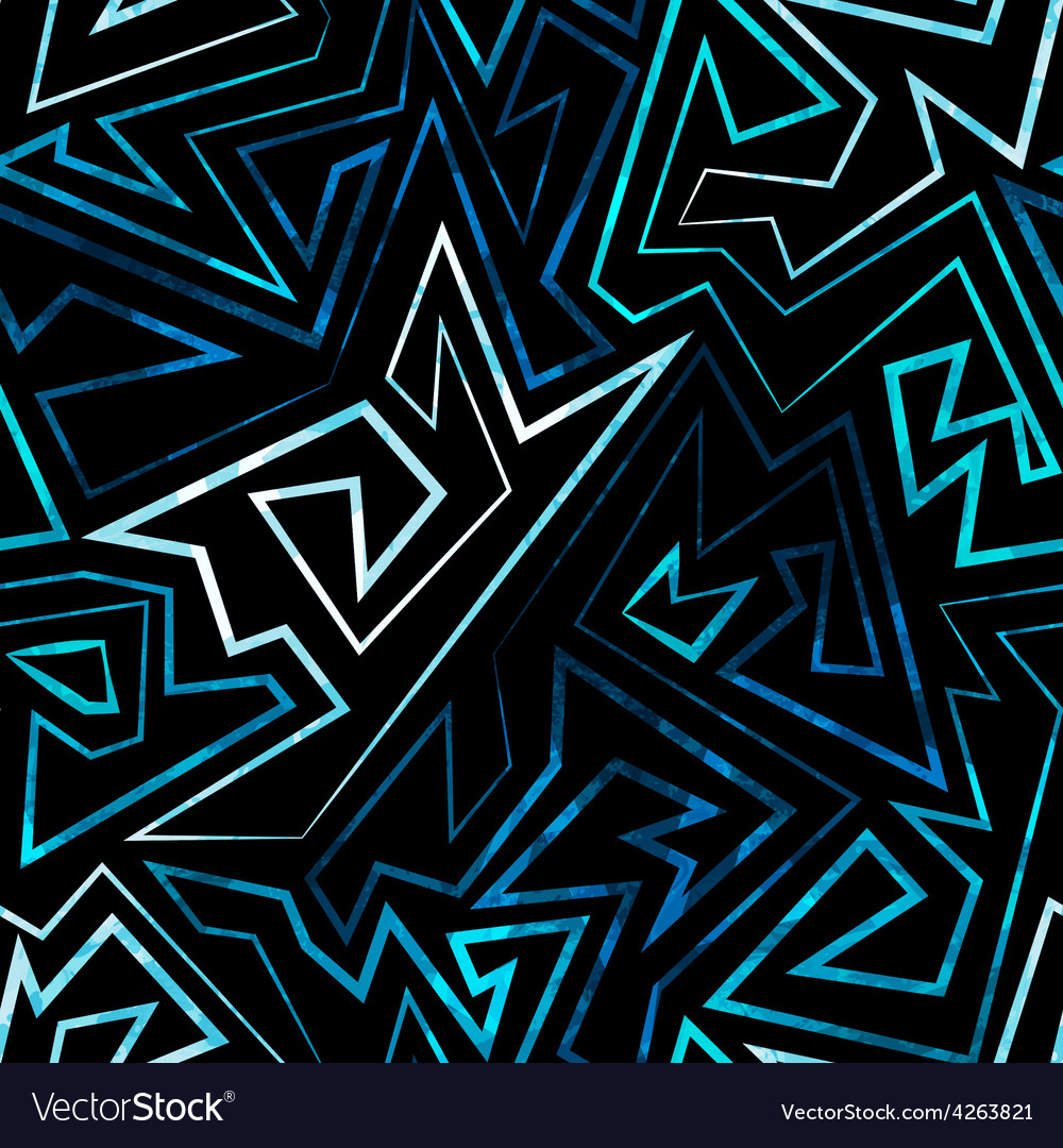 Blue neon seamless pattern vector | Price: 1 Credit (USD $1)
