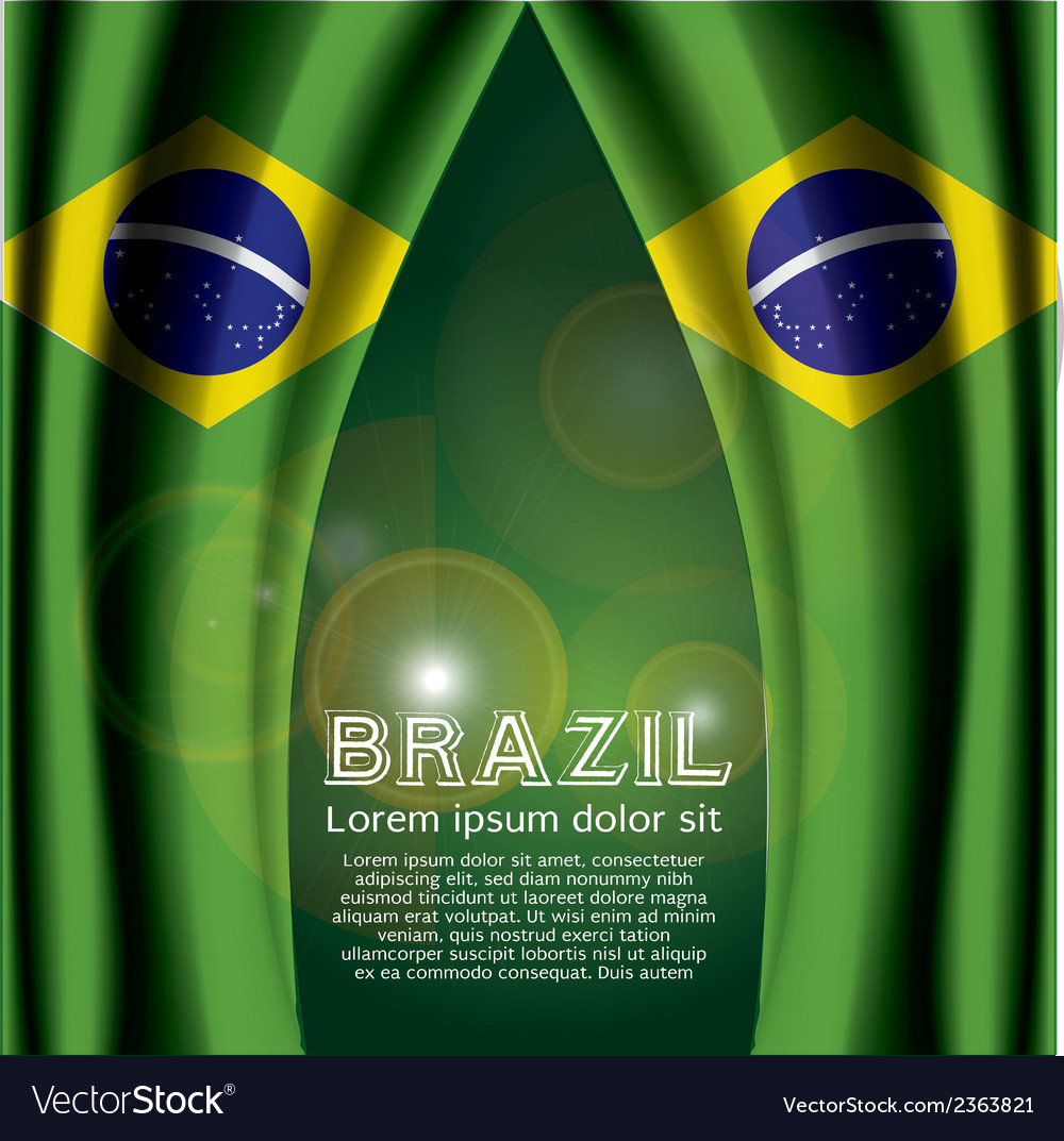Brazil flag curtain vector | Price: 1 Credit (USD $1)