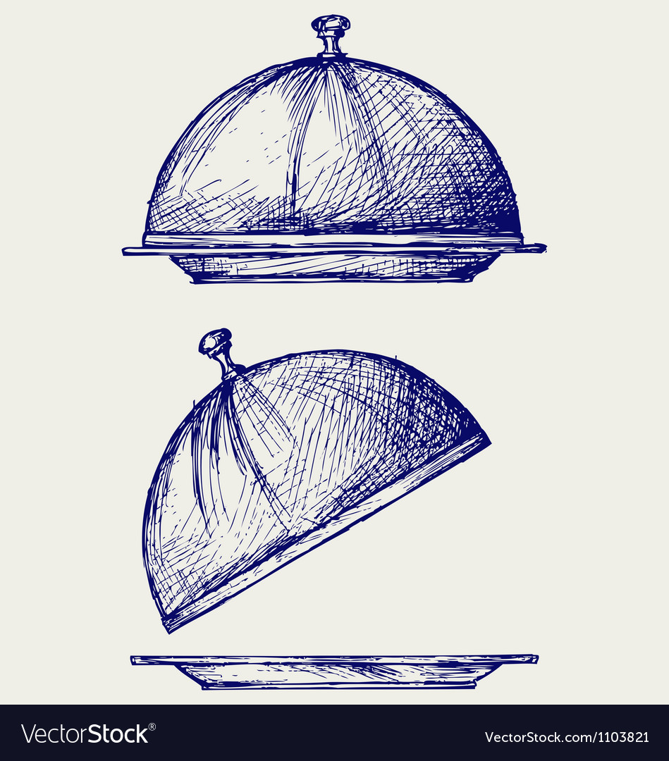 Cloche with open lid vector | Price: 1 Credit (USD $1)