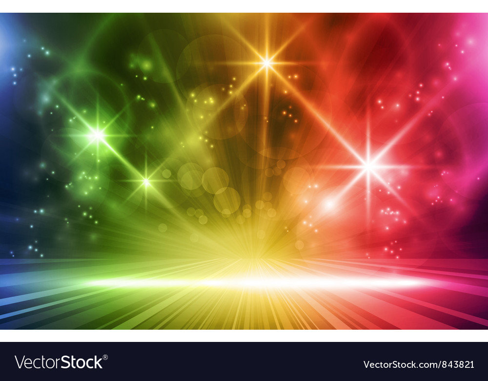 Colorful light show vector