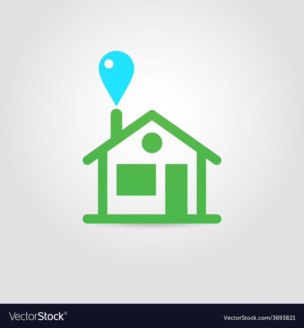 Eco house icon 01 vector | Price: 1 Credit (USD $1)