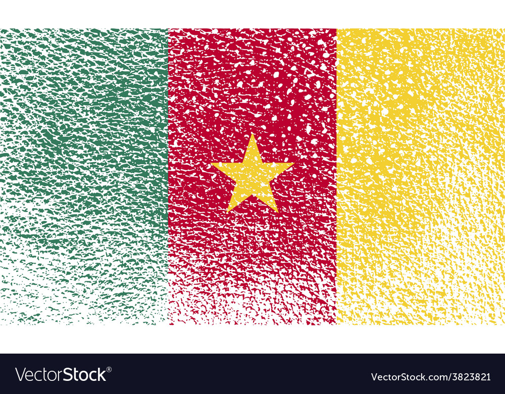 Flag of cameroon with old texture vector | Price: 1 Credit (USD $1)