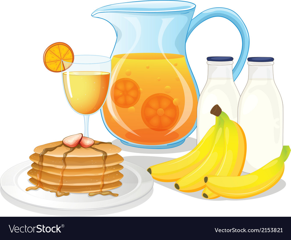Healthy drinks and foods vector | Price: 1 Credit (USD $1)