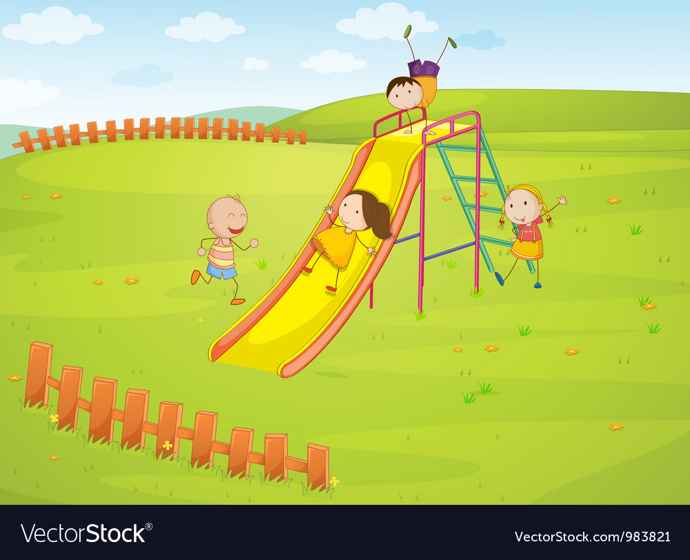 Playground background vector | Price: 3 Credit (USD $3)