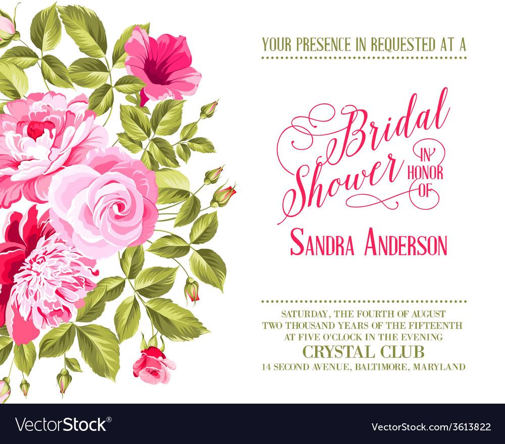 Bridal shower invitation vector | Price: 1 Credit (USD $1)