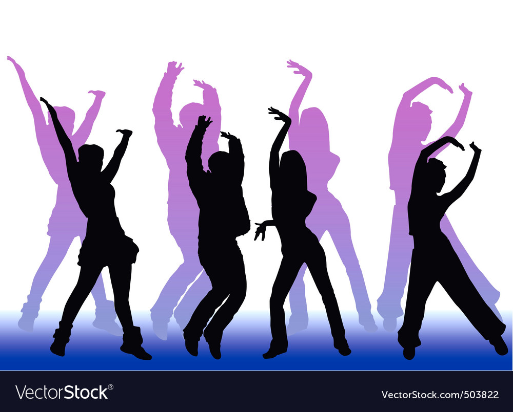 Dancing peoples vector | Price: 1 Credit (USD $1)