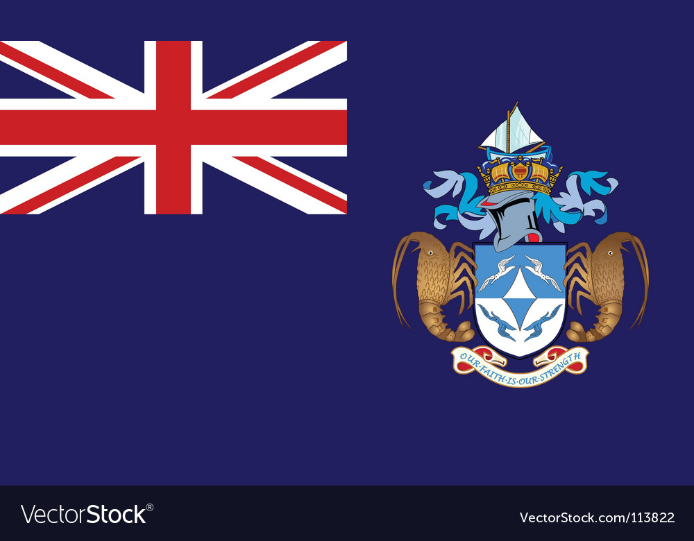 Tristan da cunha flag vector | Price: 1 Credit (USD $1)