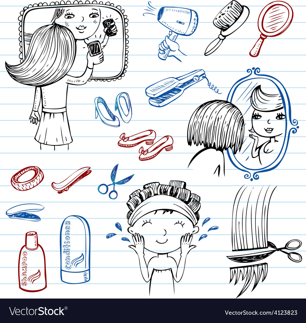 Beauty and healthcare pics vector | Price: 1 Credit (USD $1)