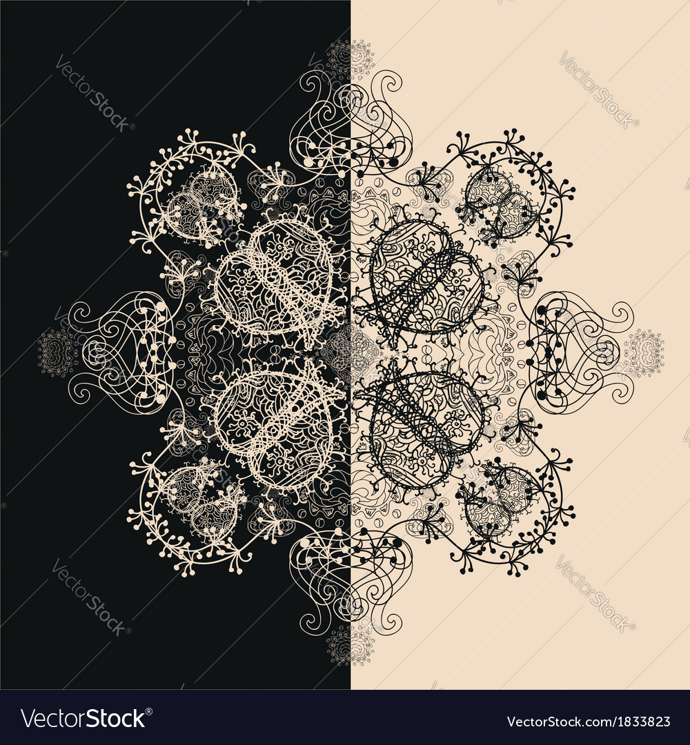 Blue floral seamless pattern on white vector | Price: 1 Credit (USD $1)