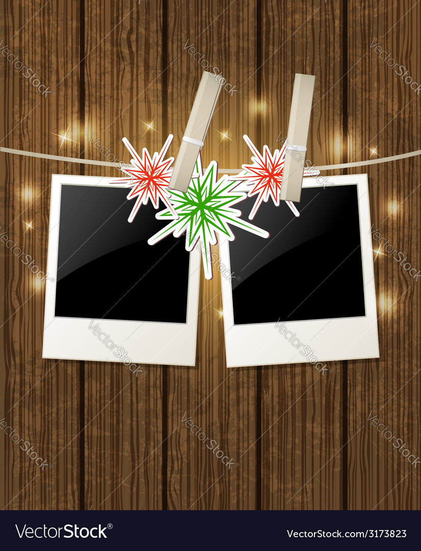 Christmas background with photo vector   Price: 1 Credit (USD $1)