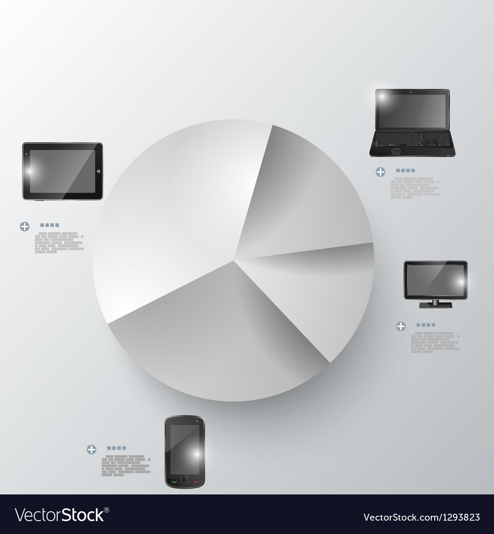 Electronic devices infographic presentation vector | Price: 1 Credit (USD $1)