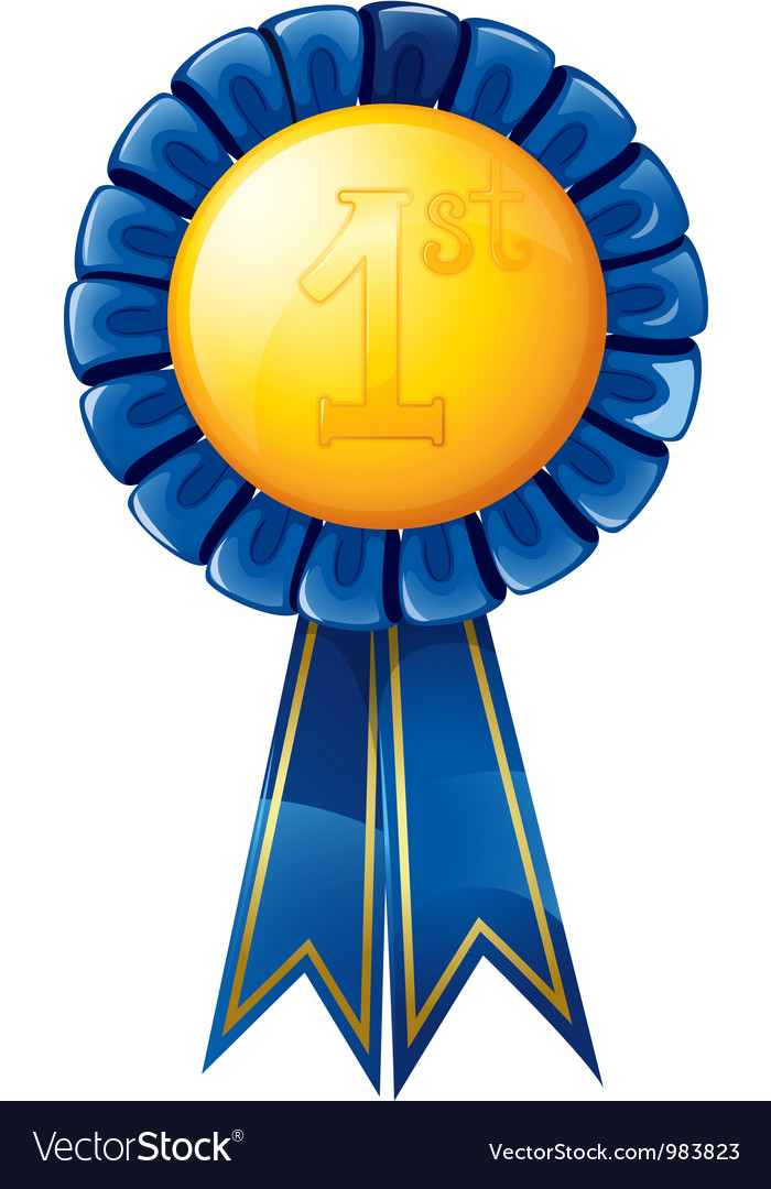 First place award ribbon vector   Price: 1 Credit (USD $1)