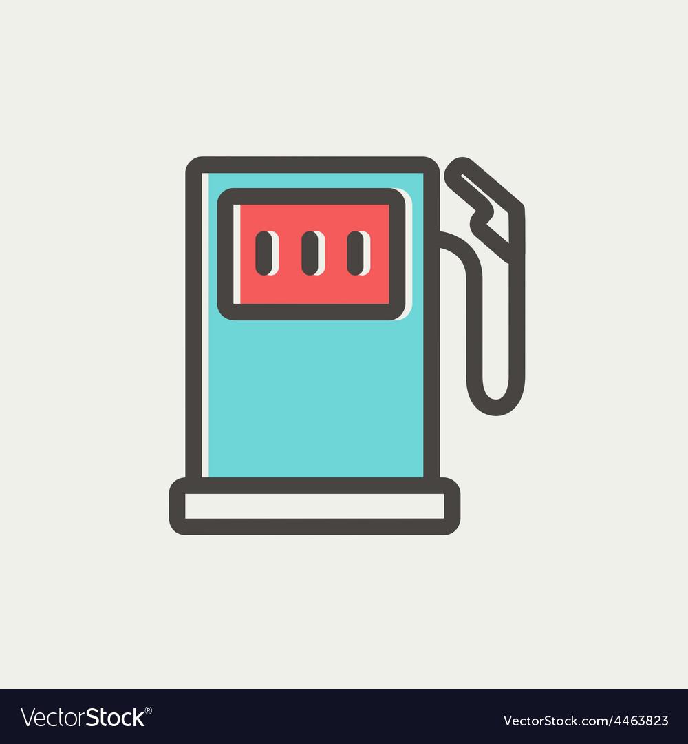 Gasoline pump thin line icon vector | Price: 1 Credit (USD $1)