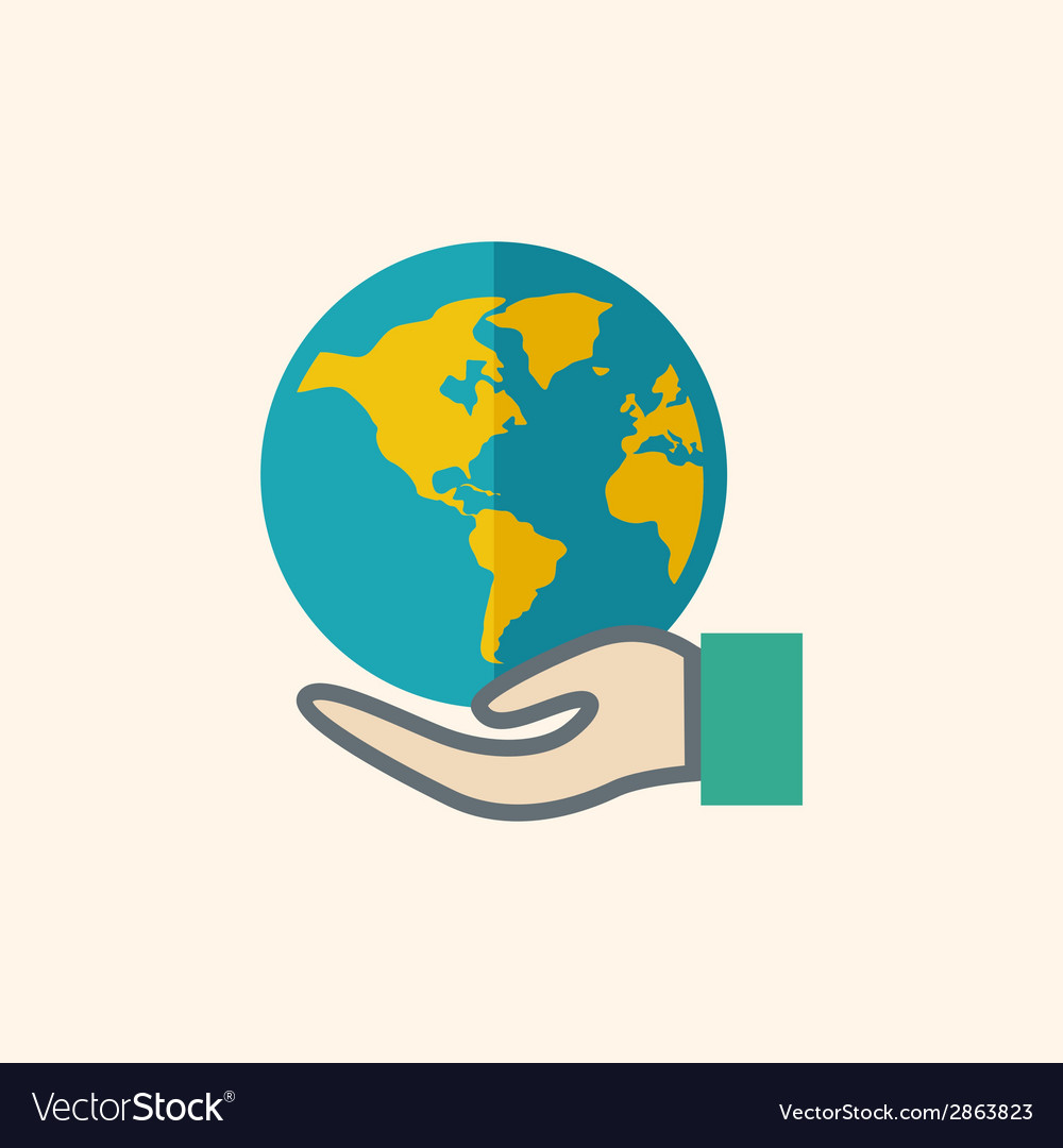 Global flat icon vector | Price: 1 Credit (USD $1)