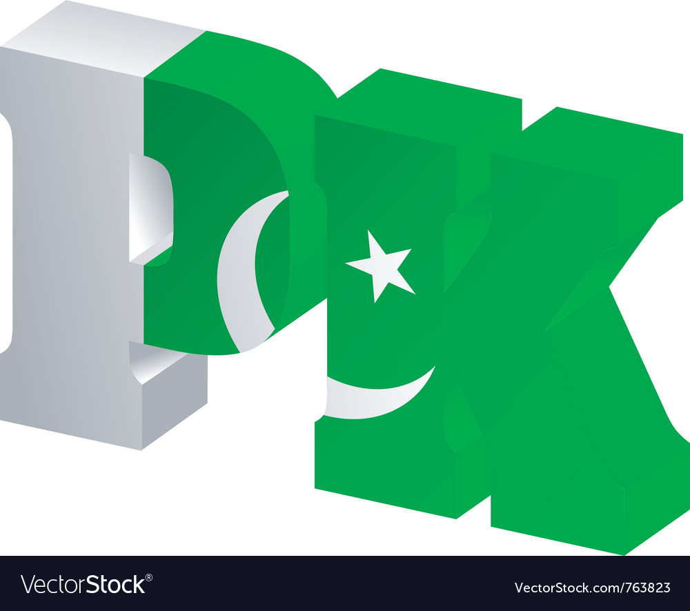 Internet top-level domain of pakistan vector | Price: 1 Credit (USD $1)