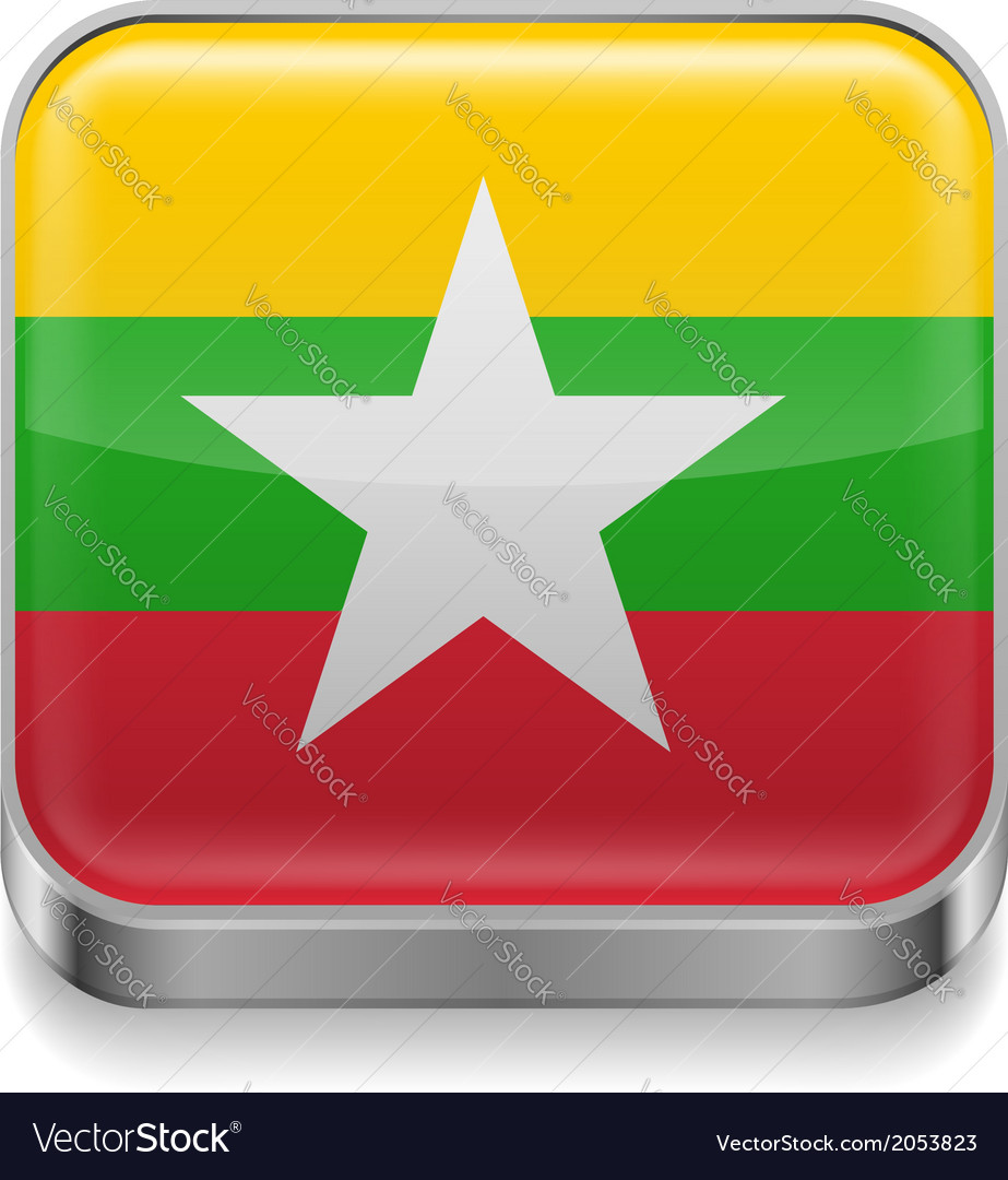 Metal icon of myanmar vector | Price: 1 Credit (USD $1)