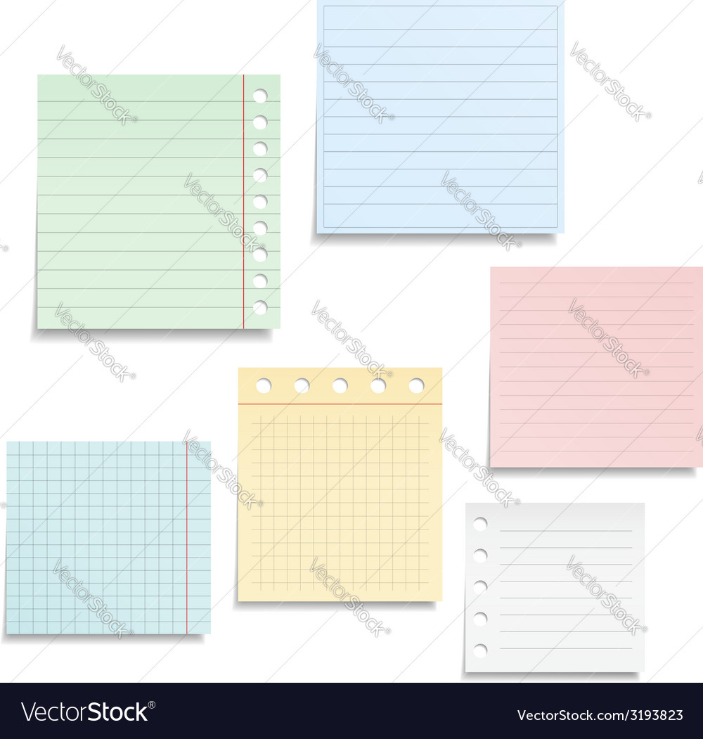 Notebook paper vector | Price: 1 Credit (USD $1)