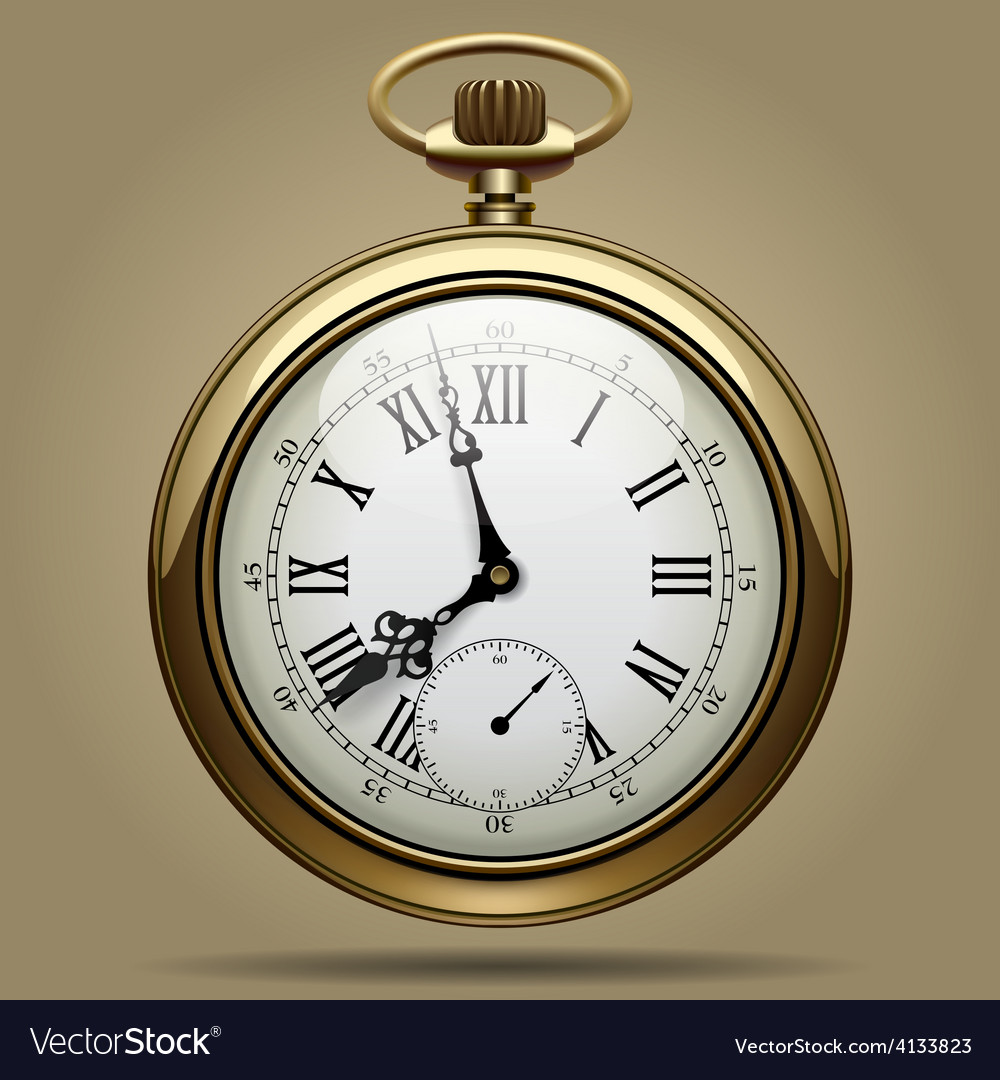 Old clock vector | Price: 3 Credit (USD $3)