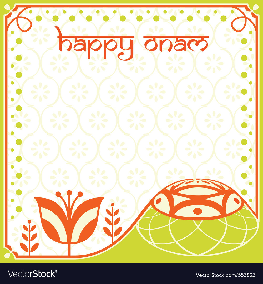 Onam holiday card vector | Price: 1 Credit (USD $1)