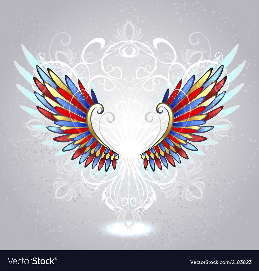 Stained glass wings vector | Price: 1 Credit (USD $1)